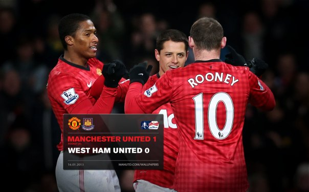 Manchester United Matches Wallpaper 2012-2013 v West Ham Home FA Cup