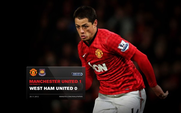 Manchester United Matches Wallpaper 2012-2013 v WHU Home Chicharito