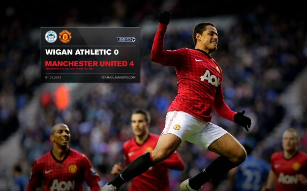 Manchester United Matches Wallpaper 2012-2013 v Wigan Away Chicharito
