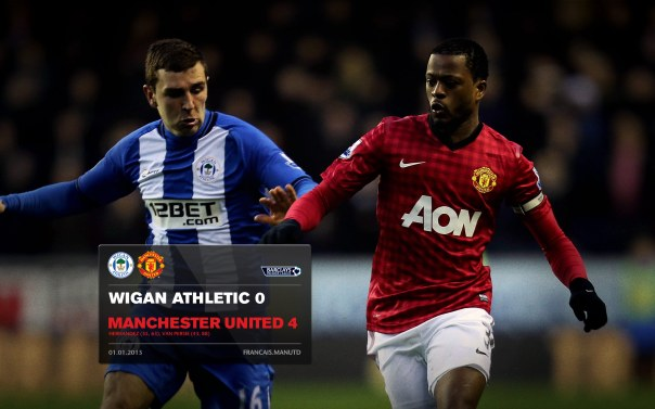Manchester United Matches Wallpaper 2012-2013 v Wigan Away Evra