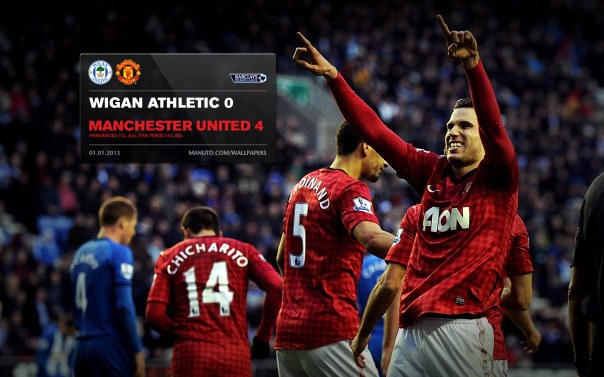 Manchester United Matches Wallpaper 2012-2013 v Wigan Away