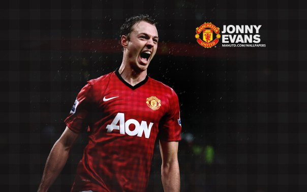 Manchester United Players Wallpaper 2012-2013 #6 Jonny Evans