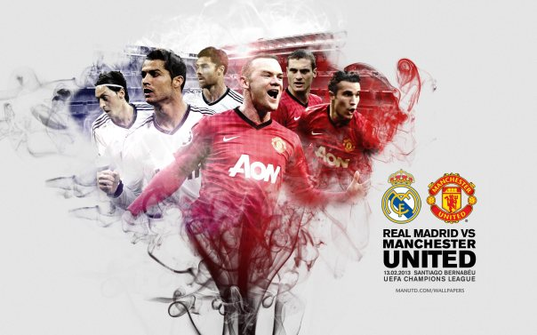 Real Madrid vs Manchester United UCL Wallpaper