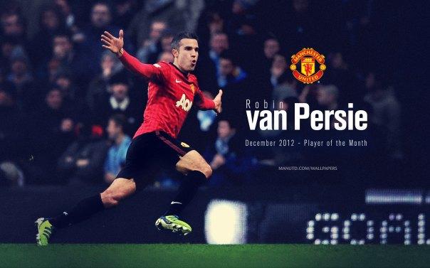 Robin van Persie Wallpaper - Player of The Month December 2012