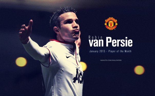 Robin van Persie Wallpaper - Player of The Month January 2013