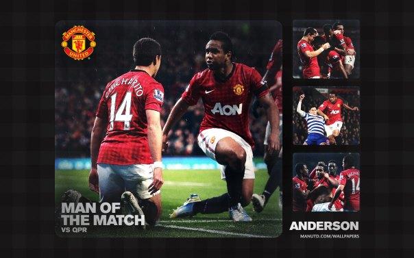 Anderson Wallpaper - Man of The Match Wallpaper 2012-2013 vs QPR Home