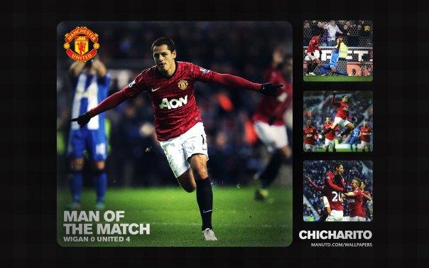 Chicharito Wallpaper - Man of The Match Wallpaper 2012-2013 vs Wigan Away