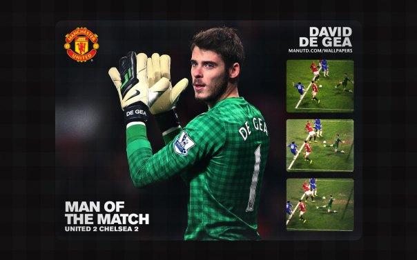 David de Gea Wallpaper - Man of The Match Wallpaper 2012-2013 vs Chelsea FA Cup Home
