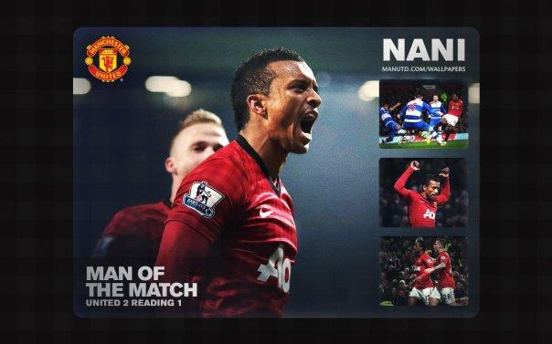 Luis Nani Wallpaper - Man of The Match Wallpaper 2012-2013 vs Reading Home