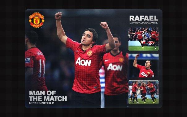 Rafael da Silva Wallpaper - Man of The Match Wallpaper 2012-2013 vs QPR Away