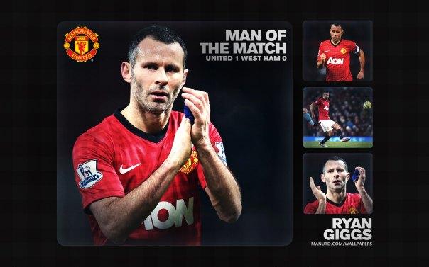 Ryan Giggs Wallpaper - Man of The Match Wallpaper 2012-2013 vs West Ham Home