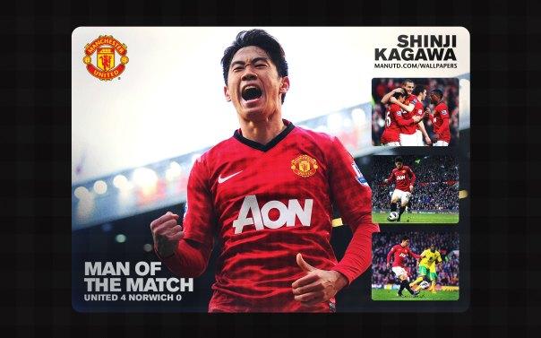 Shinji Kagawa Wallpaper - Man of The Match Wallpaper 2012-2013 vs Norwich Home