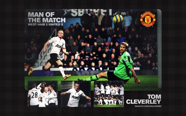 Tom Cleverley Wallpaper - Man of The Match Wallpaper 2012-2013 vs West Ham Away