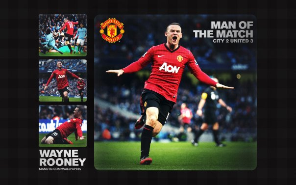 Wayne Rooney Wallpaper - Man of The Match Wallpaper 2012-2013 vs Manchester City Away