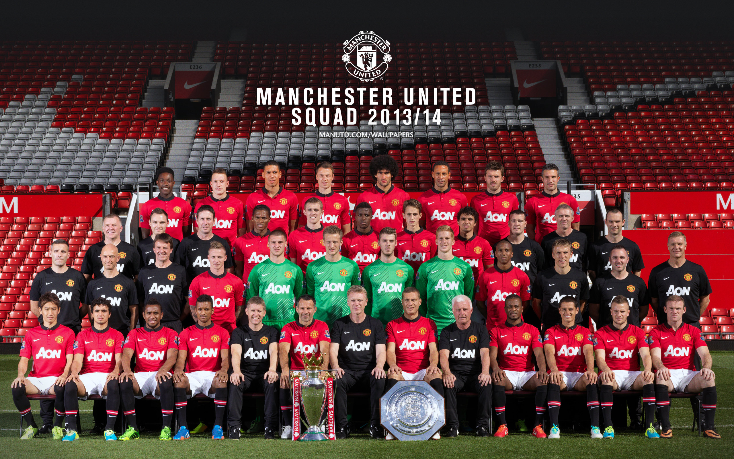 Players manchester united wallpaper manchester united squad 2013 2014 wallpaper voltagebd Choice Image
