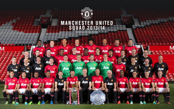 Manchester United Squad 2013-2014 Wallpaper