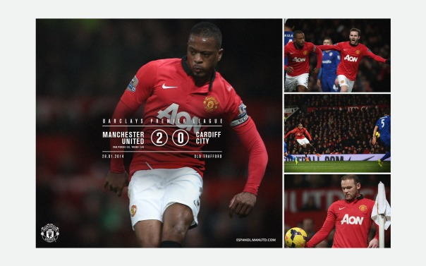 Manchester United v Cardiff City Wallpaper 3