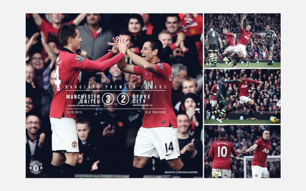 Manchester United v Stoke City Wallpaper 1