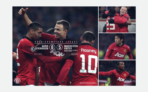 Manchester United Wallpaper v Bayer Leverkusen UCL