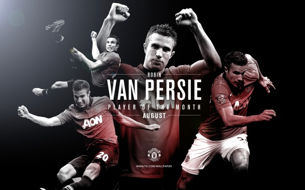 Robin van Persie Wallpaper - Player of The Month August 2013