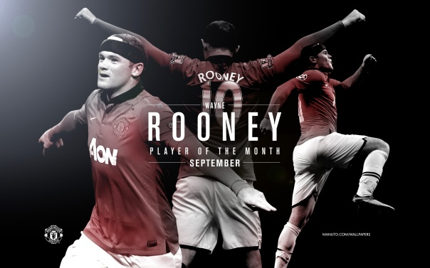 Wayne Rooney Wallpaper - Player of The Month September 2013